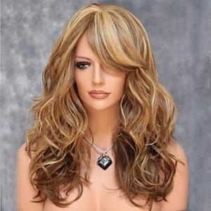 Парик мелированные въющиеся волосы