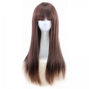 Парик каштановые прямые длинные волосы