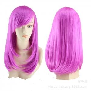 Парик лесенка фиолетовый 45 см