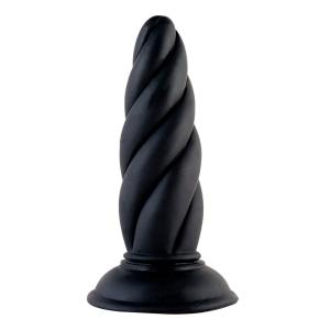 Чёрная спиралевидная втулка - 16 см.